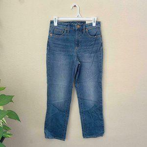 Universal Thread Plus 18/34 4 Crop Jeans Blue Stri